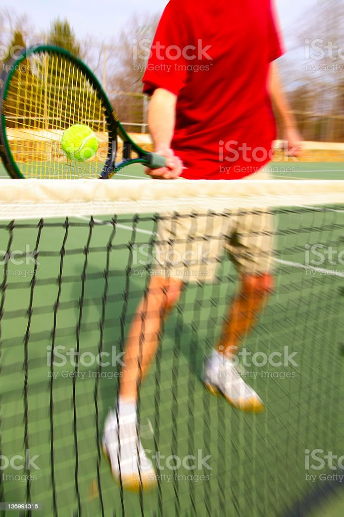 Tennis action royalty-free stock photo