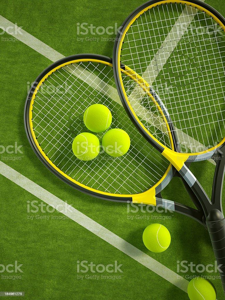 Tennis background royalty-free stock photo