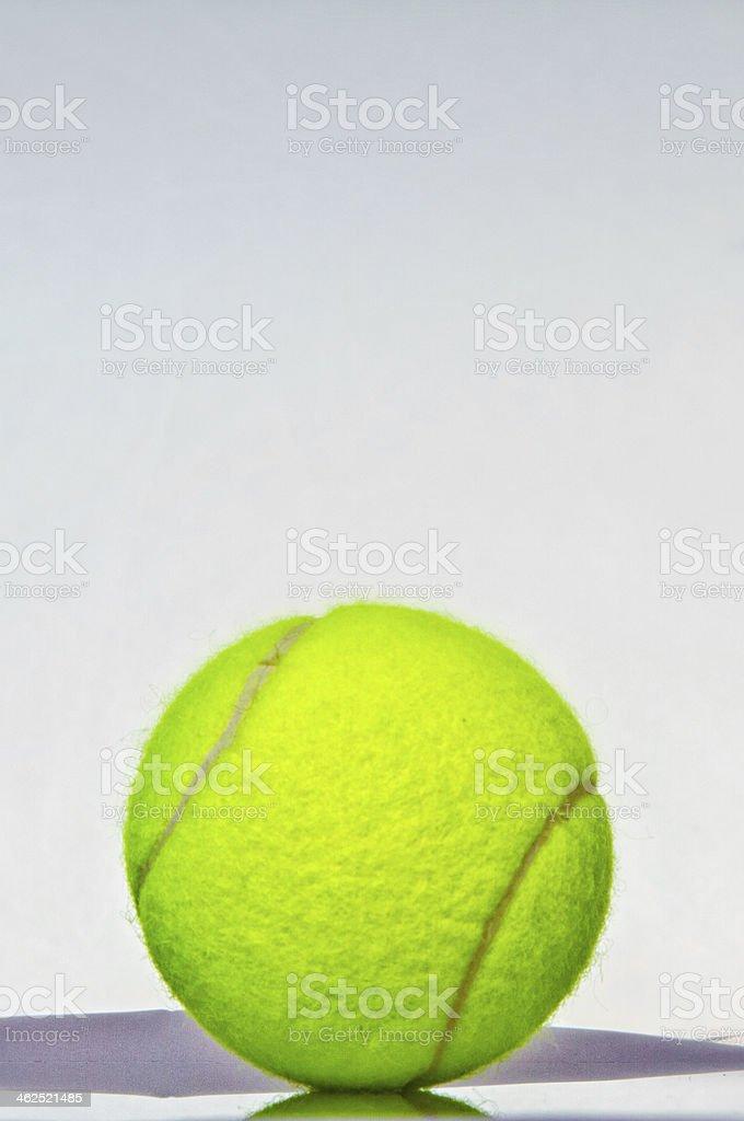 Tennis ball against white royalty-free stock photo