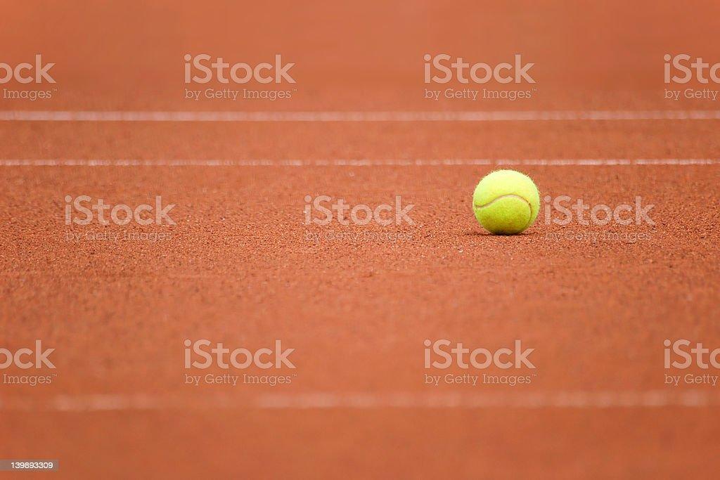 Tennis ball alone stock photo