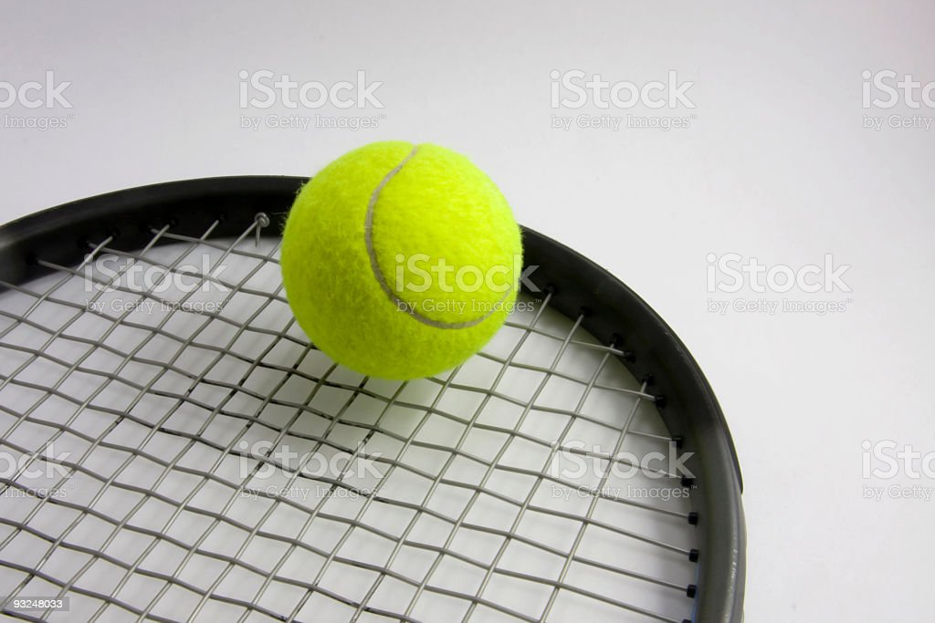 Tennis Ball and Racket royalty-free stock photo