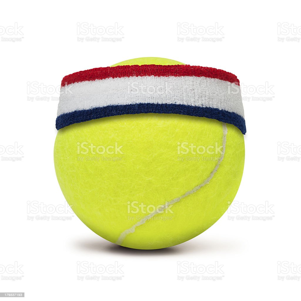 Tennis Ball and Sweatband royalty-free stock photo