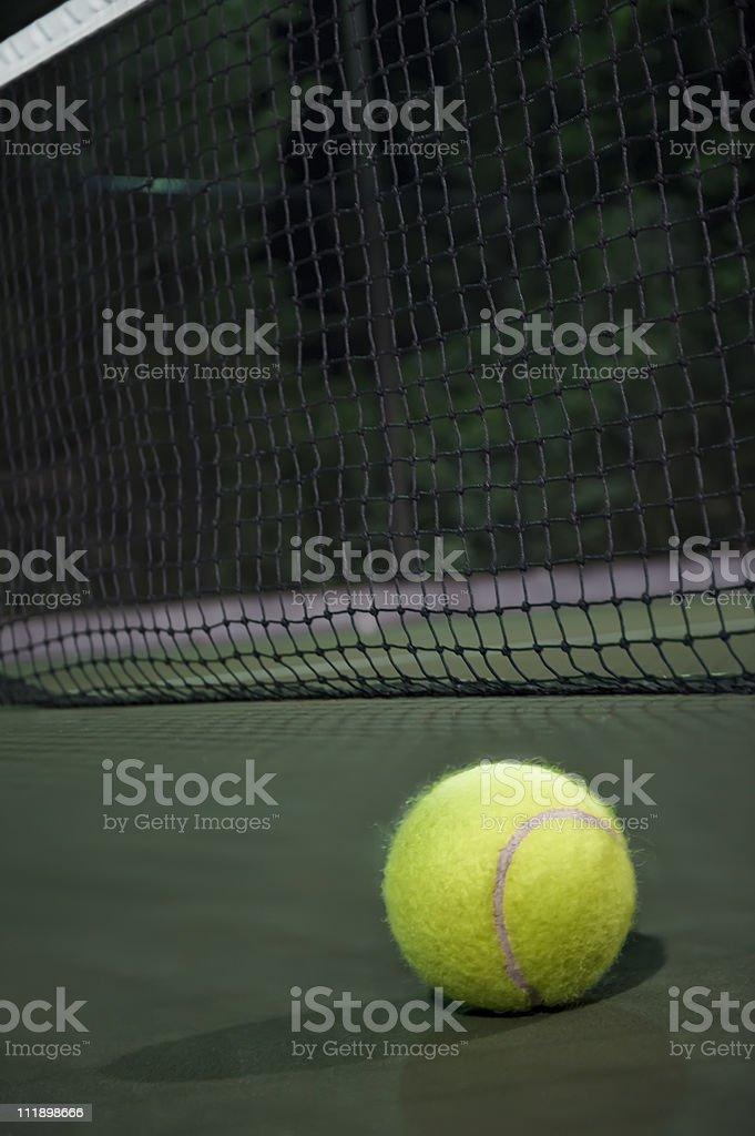 Tennis Ball At Night royalty-free stock photo