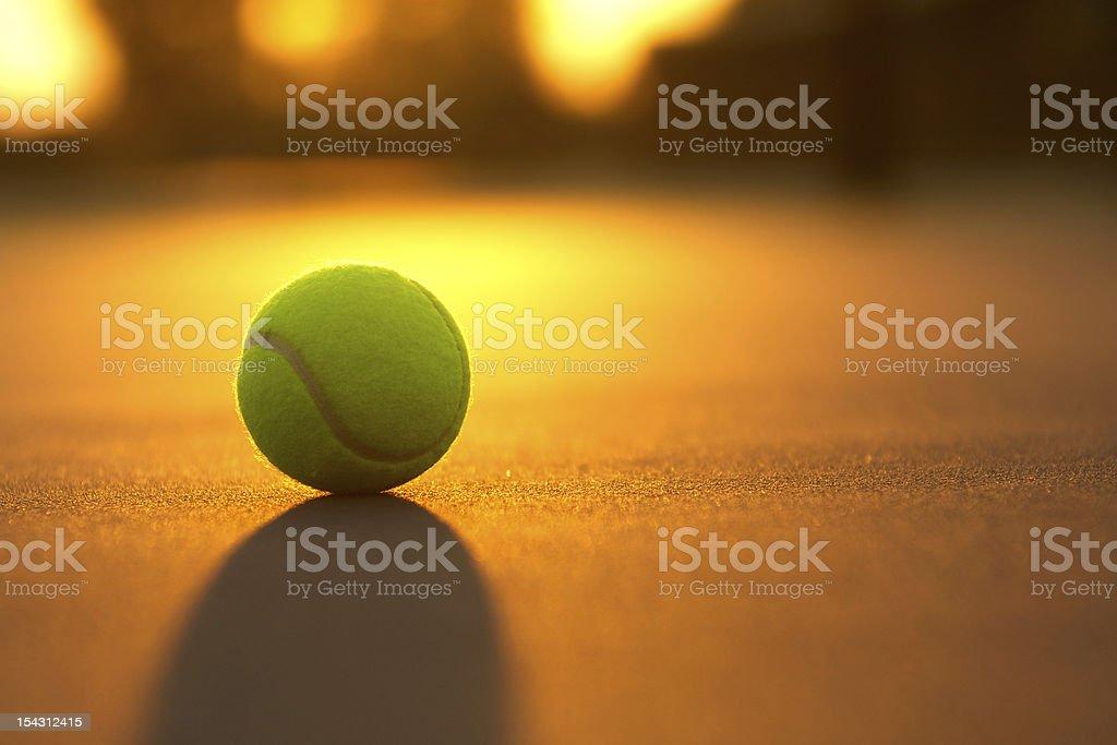Tennis Ball at Sunset royalty-free stock photo