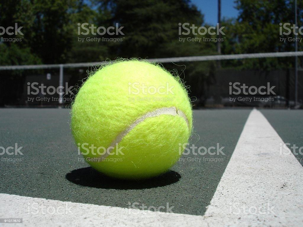 Tennis ball closeup royalty-free stock photo