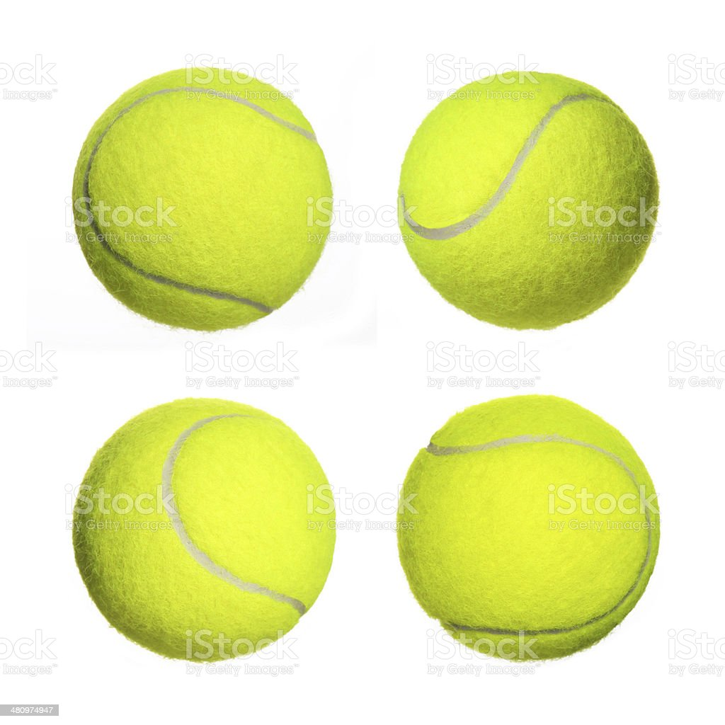 Tennis Ball Collection isolated stock photo