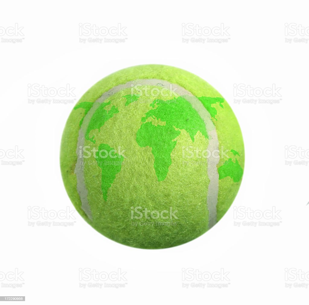 Tennis Ball  Globe stock photo