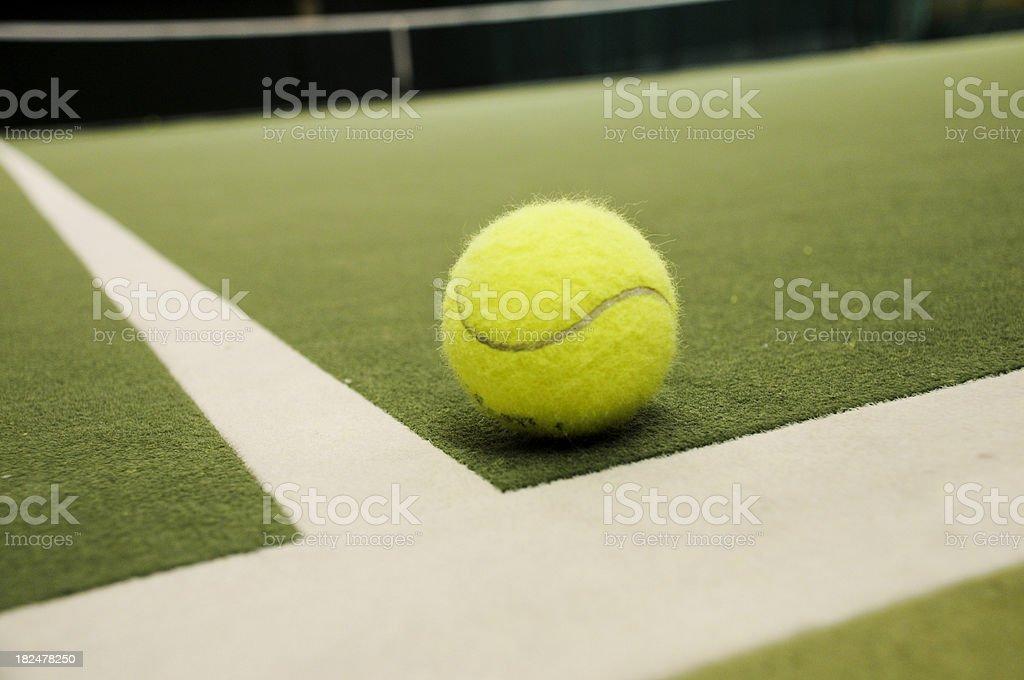 Tennis ball inside royalty-free stock photo