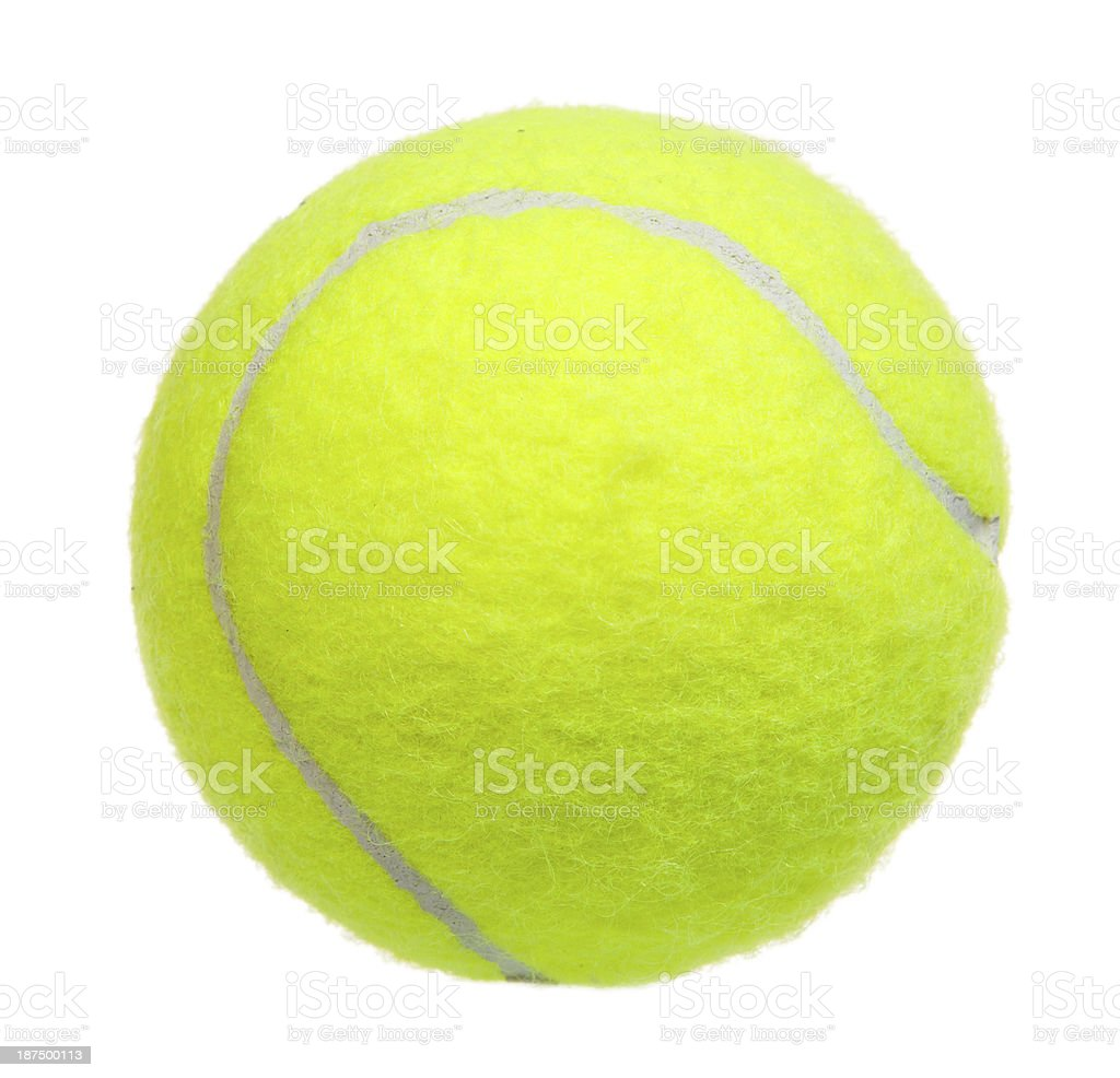 Tennis ball isolated stock photo