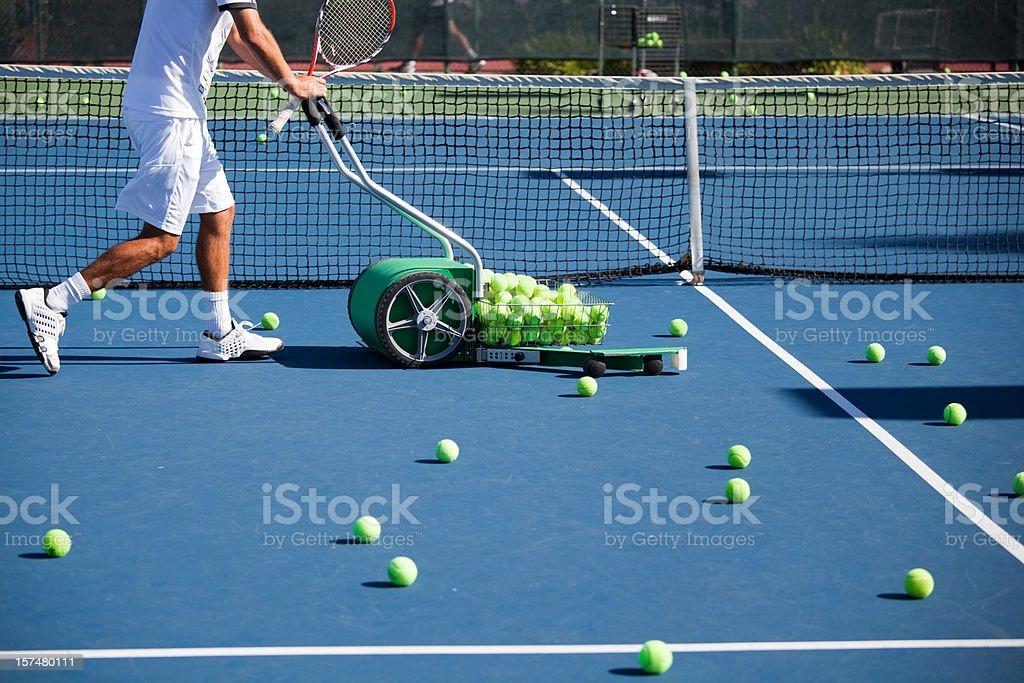 Tennis Ball Mower stock photo