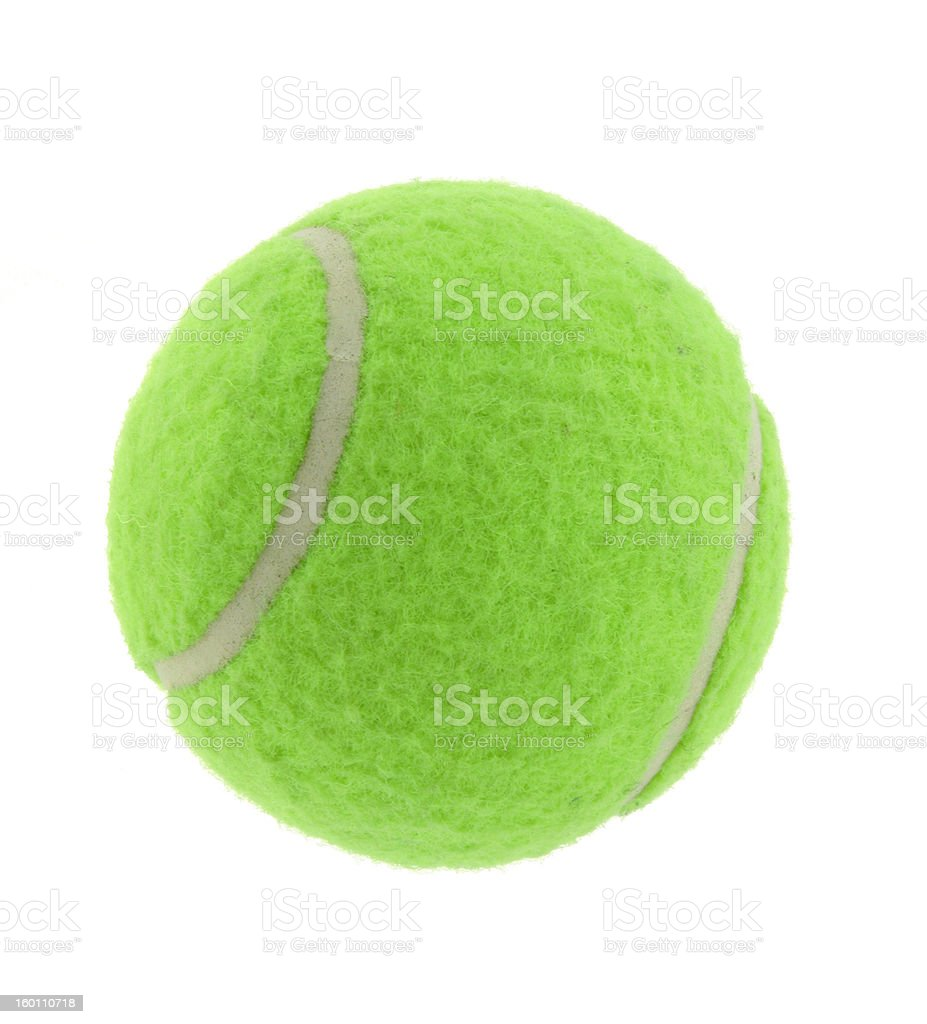 tennis ball on pure white background royalty-free stock photo