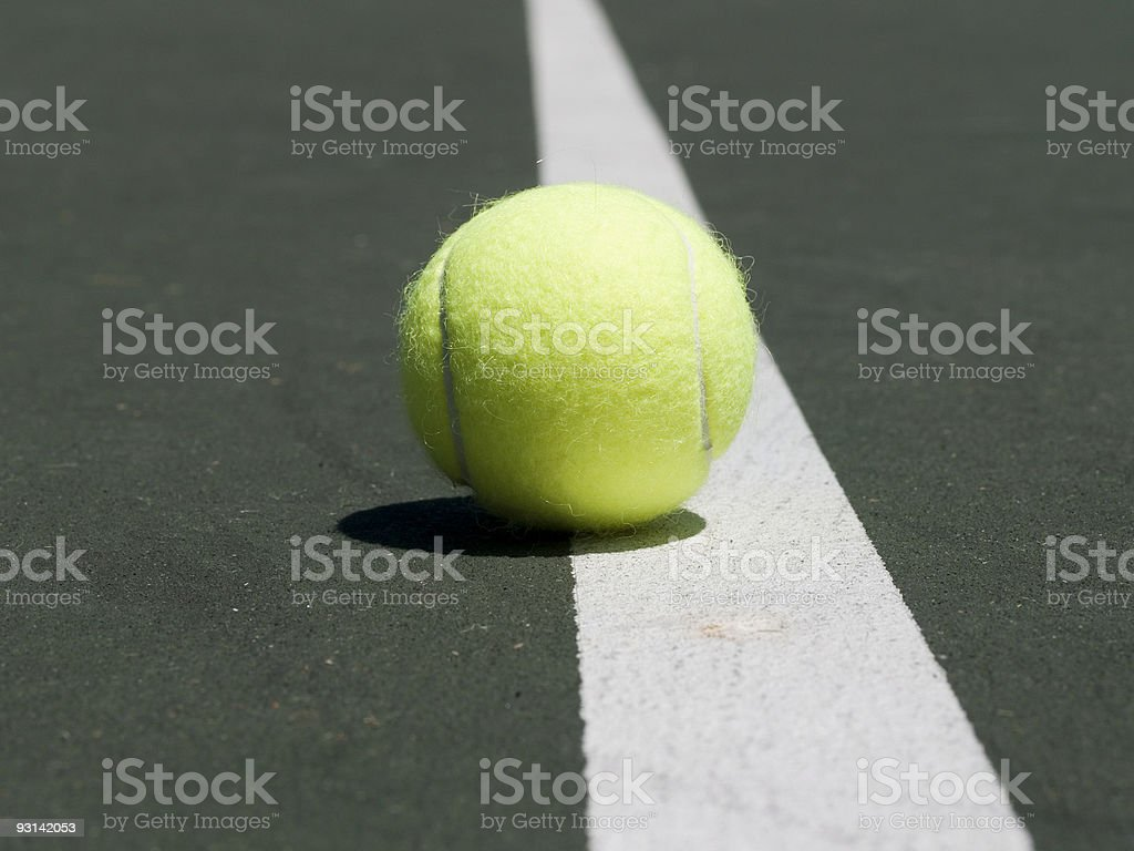 Tennis Ball - On the Line royalty-free stock photo