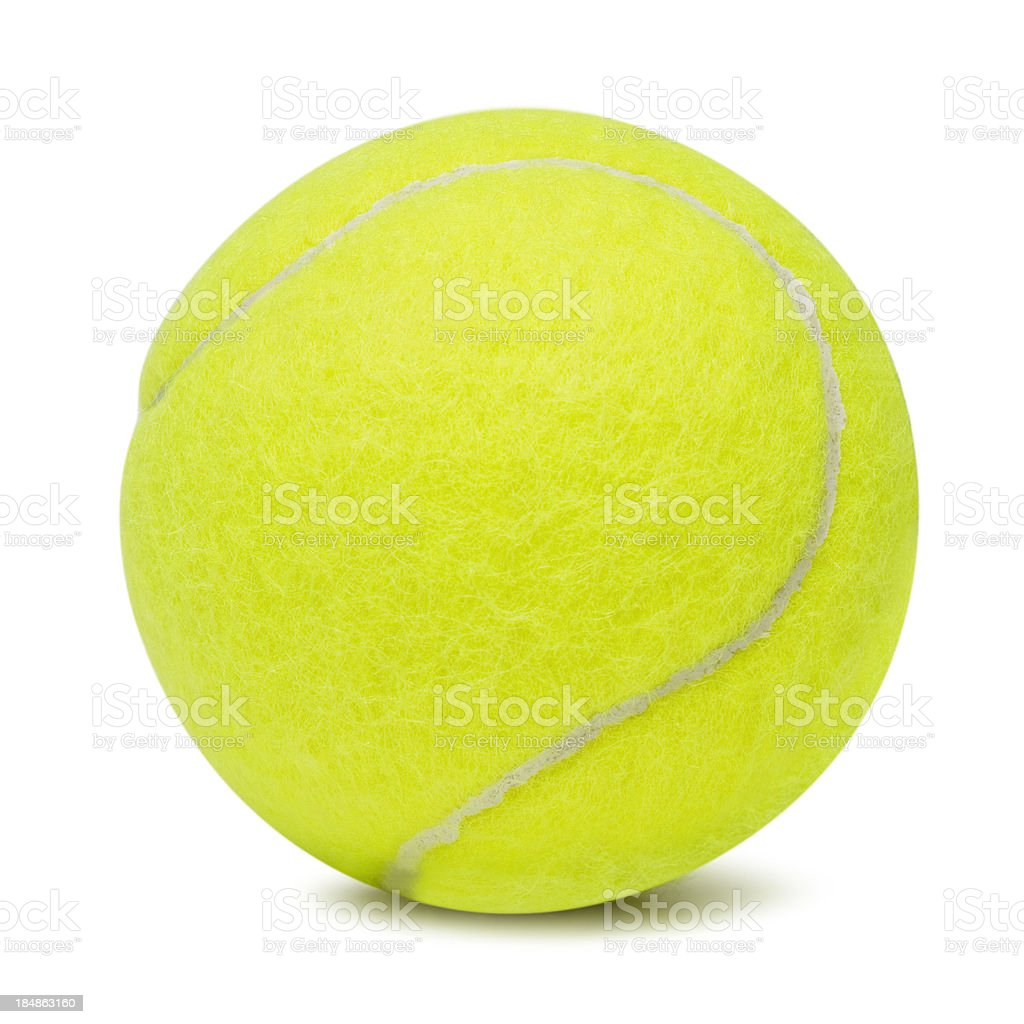 Tennis ball on white background royalty-free stock photo