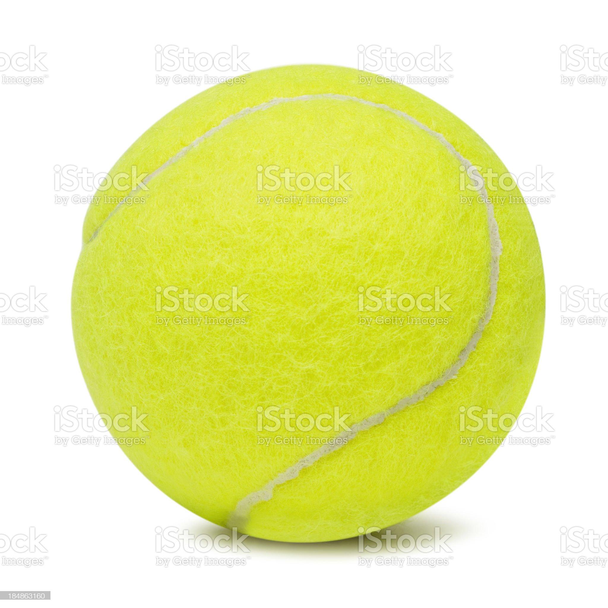 Tennis ball on white background royalty-free stock photo