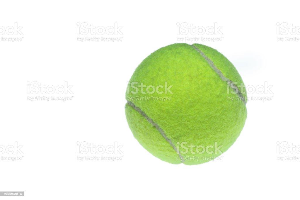 Tennis ball on white background stock photo