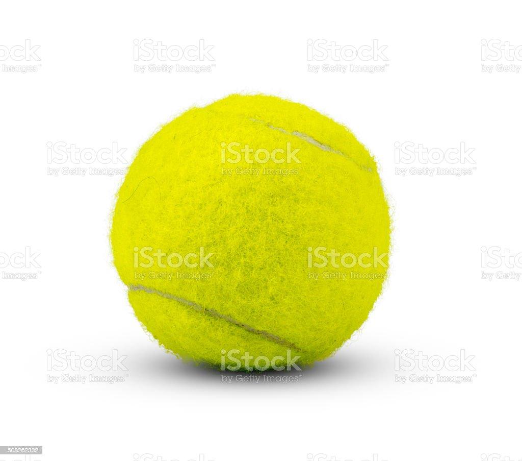 Tennis ball on white stock photo