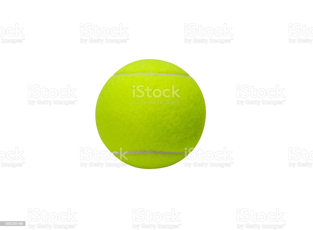 Tennis ball (clipping path included) royalty-free stock photo