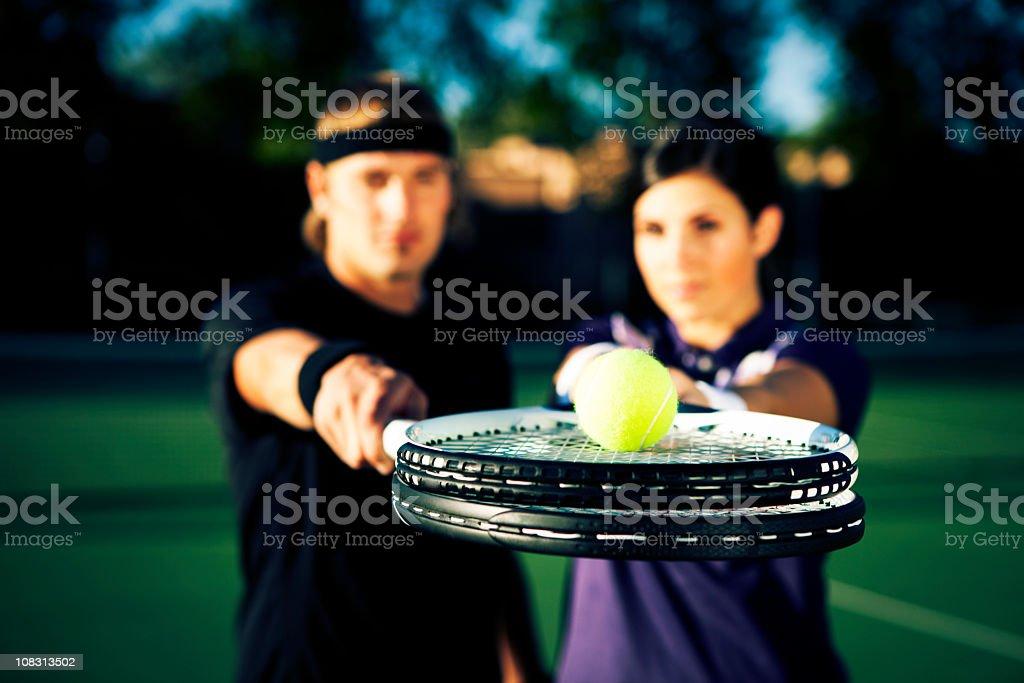 Tennis Ball Service stock photo