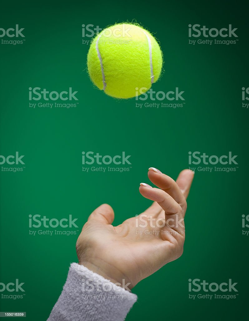 Tennis Ball Toss royalty-free stock photo