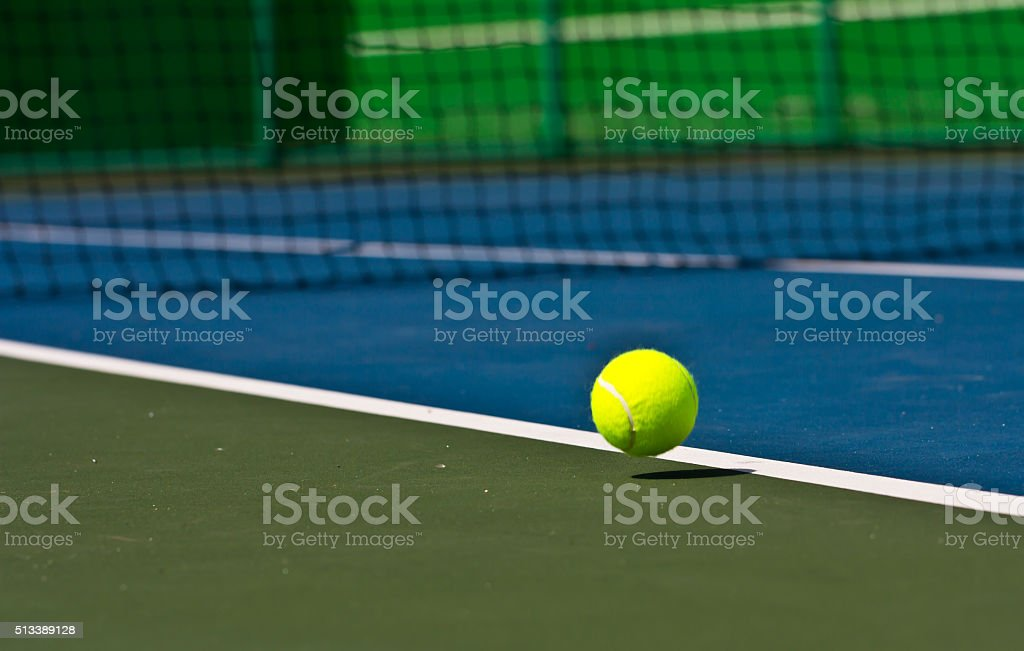 Tennis balls are falling ground. stock photo