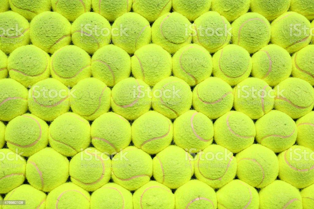 Tennis balls background stock photo