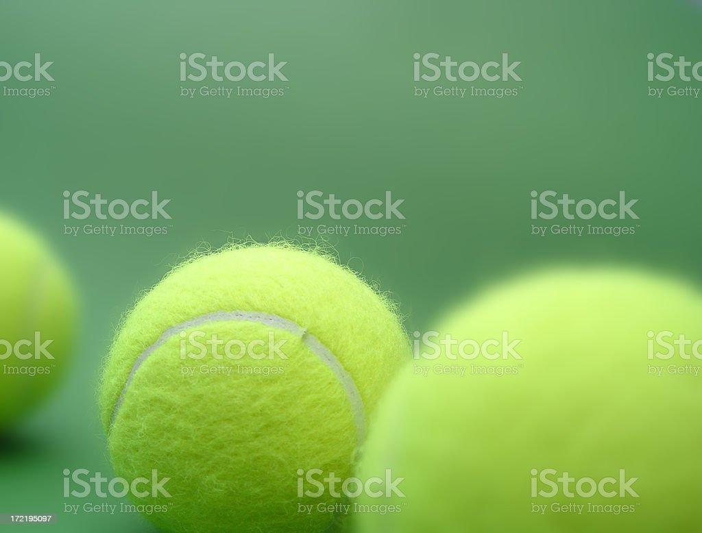 tennis balls collection stock photo
