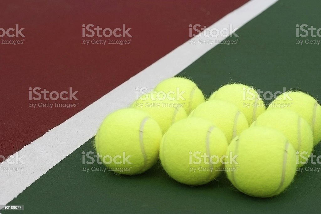 Tennis Balls Diagonal stock photo