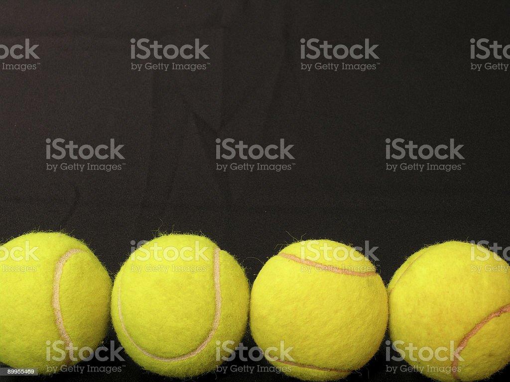 Tennis Balls on Line royalty-free stock photo