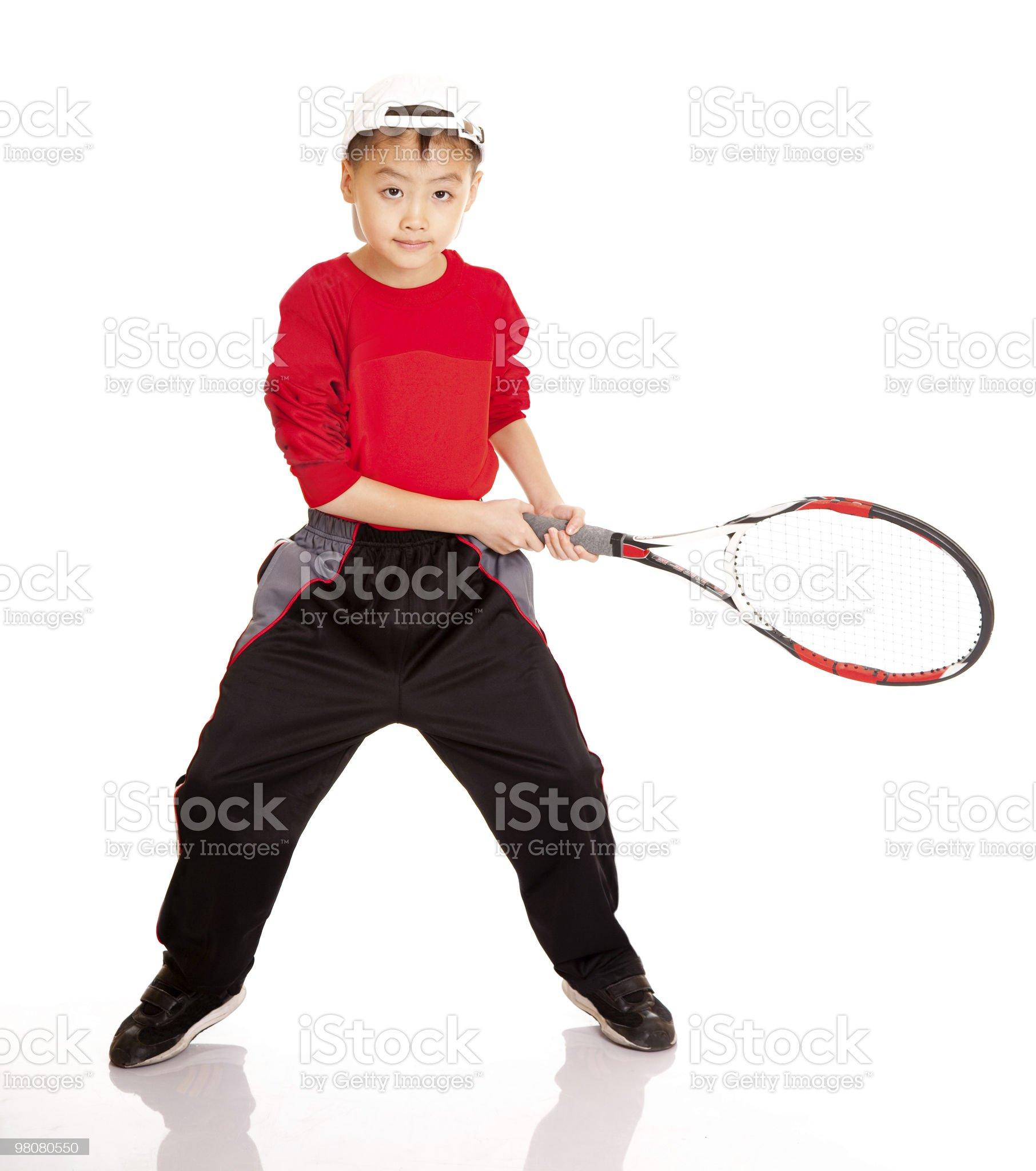 tennis boy royalty-free stock photo