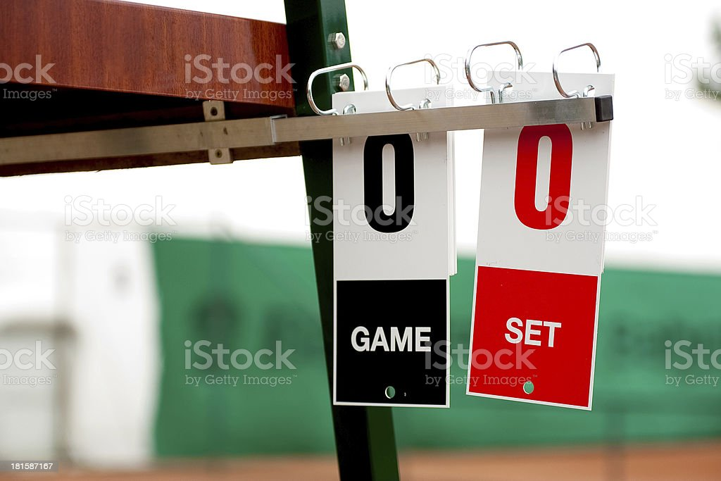 Tennis cards before start of the game royalty-free stock photo