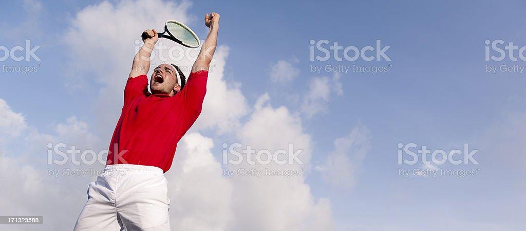 Tennis Celebration royalty-free stock photo