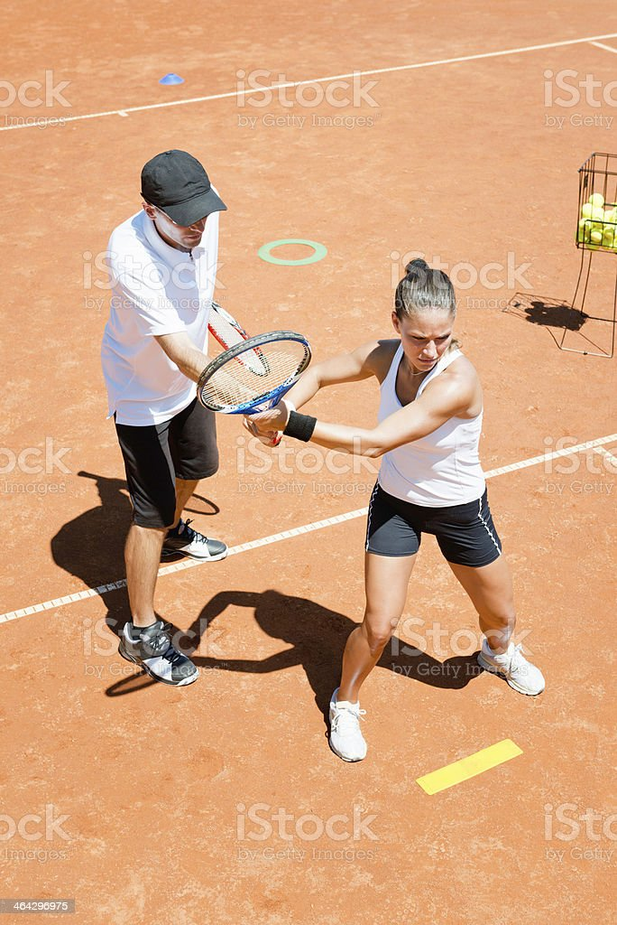 Tennis class royalty-free stock photo