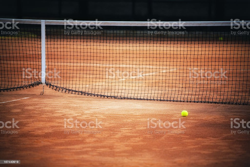 Tennis clay court stock photo