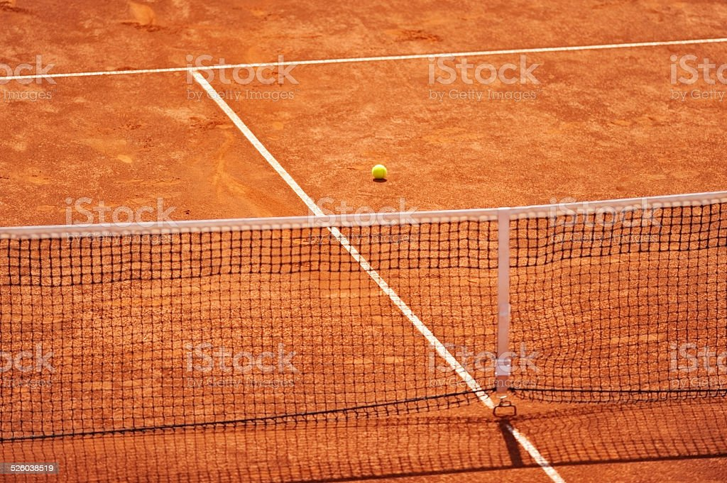 Tennis clay court with no people stock photo