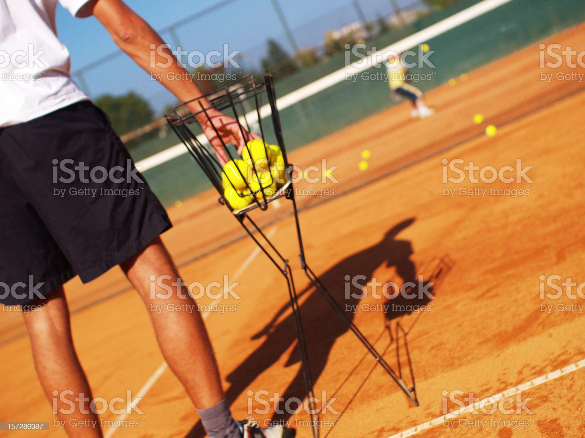 Tennis Coach royalty-free stock photo