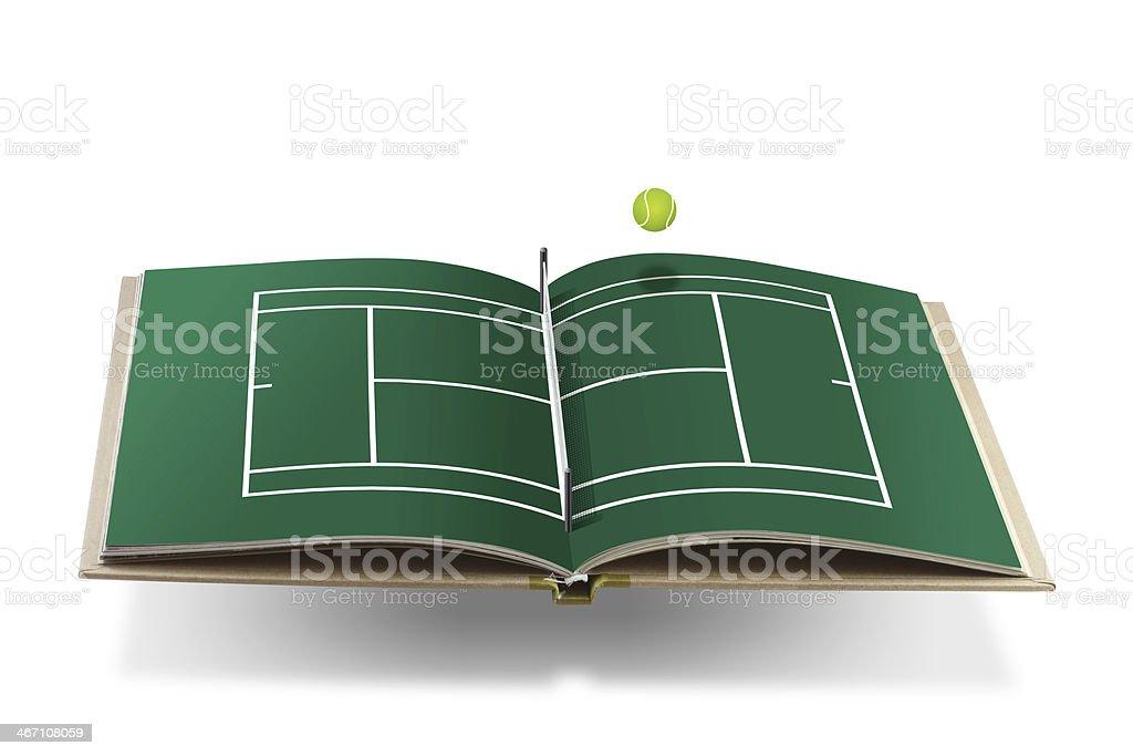 tennis cort book royalty-free stock photo
