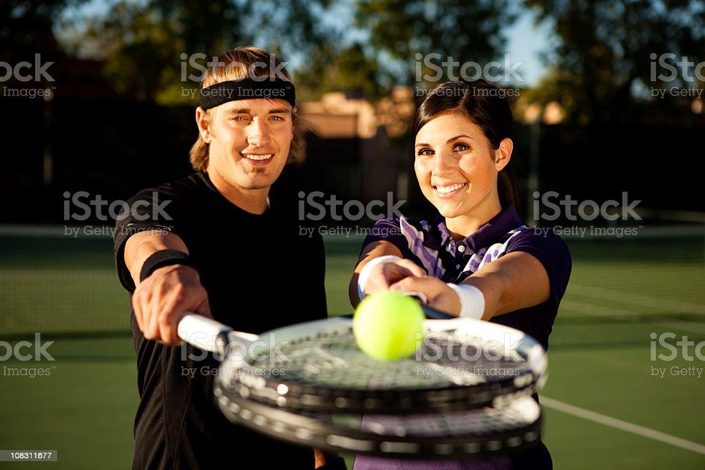 Tennis Couple stock photo