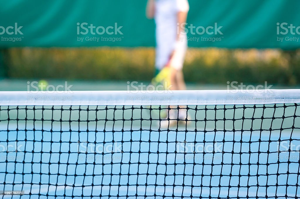 tennis court at chonburi thailand stock photo