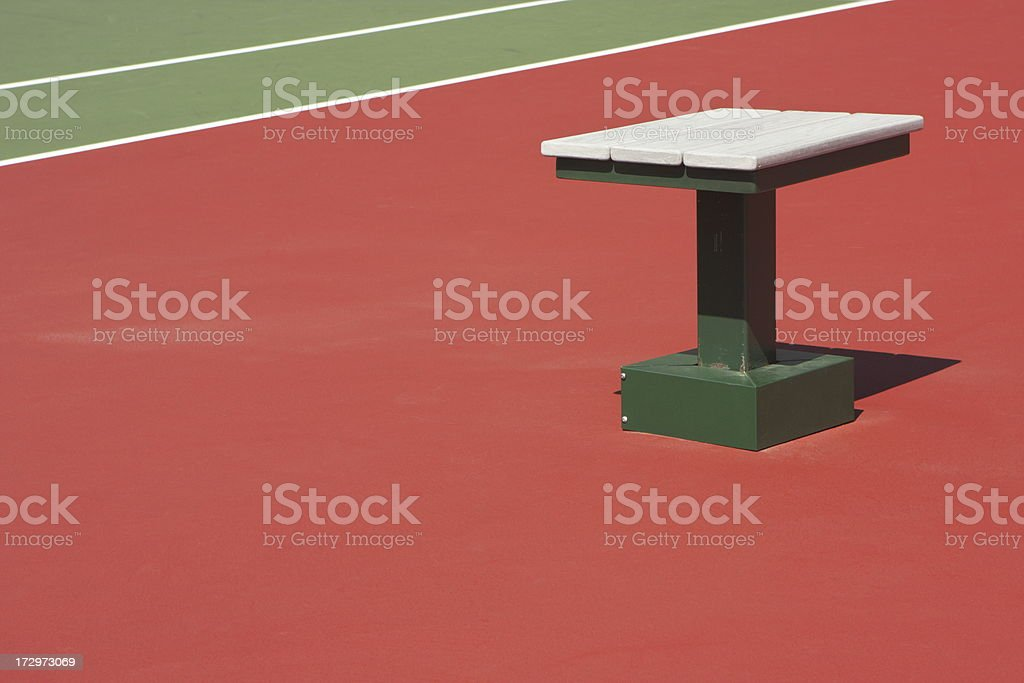 Tennis Court Ball Chaser Chair royalty-free stock photo