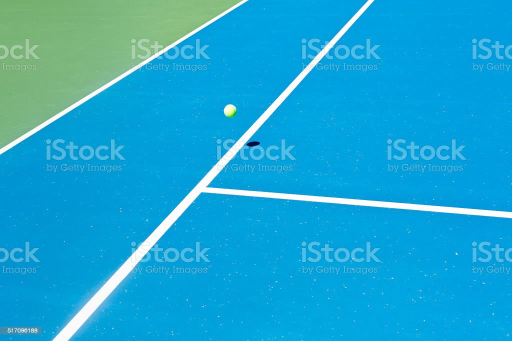 Tennis court ball in / out , ace / winner stock photo