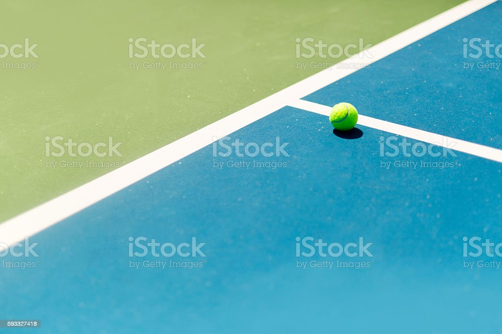 Tennis court ball in / out , ace / winner during serve, point