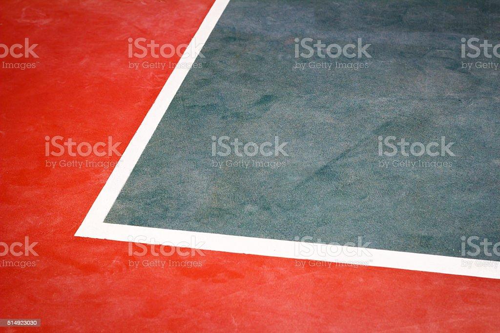 Tennis court detail stock photo