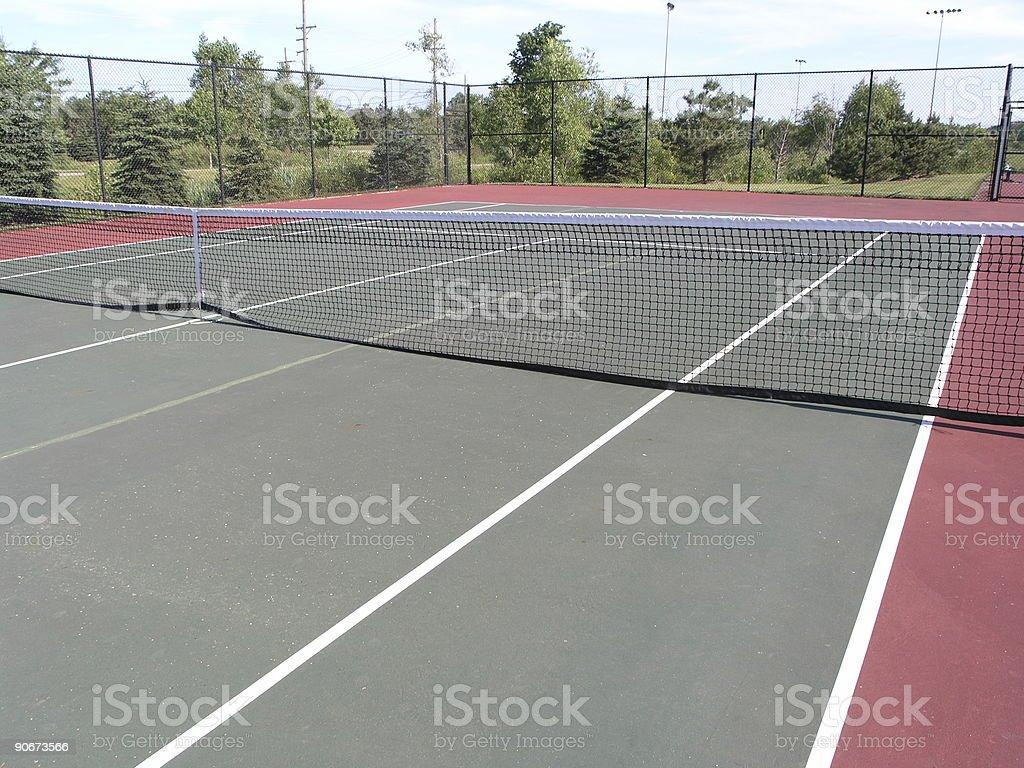 Tennis court - hard court royalty-free stock photo