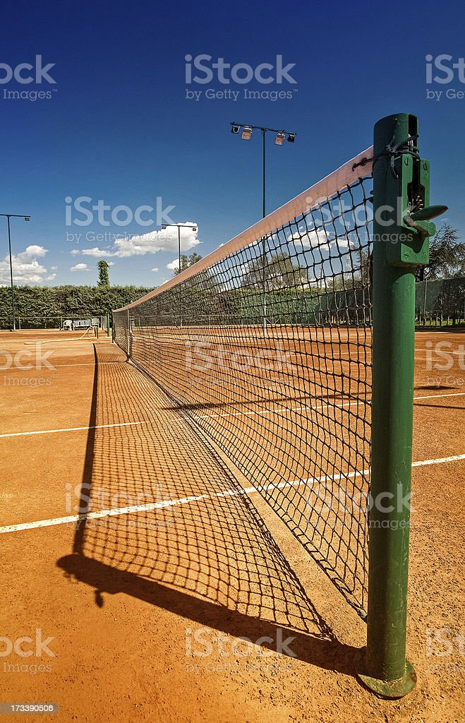 Tennis court in a sunny day royalty-free stock photo
