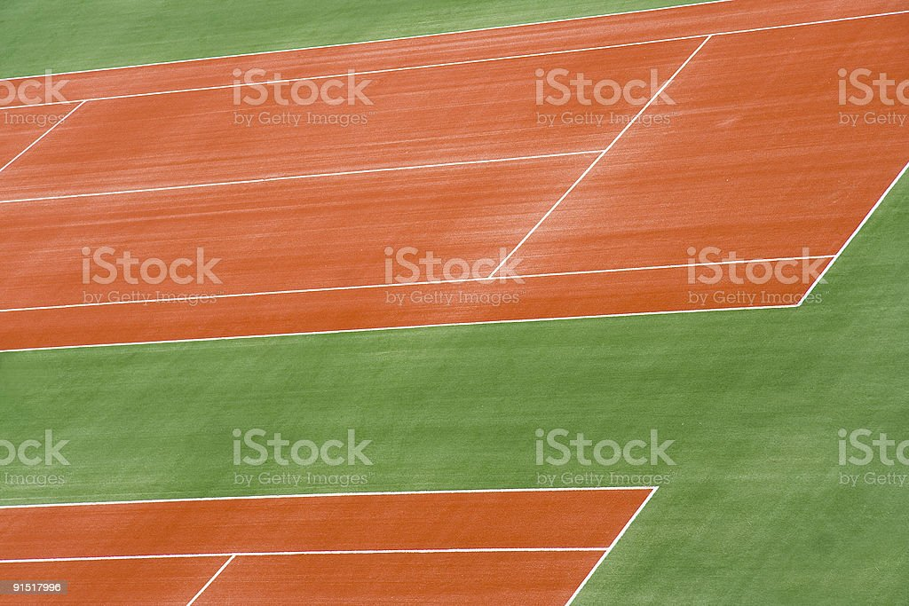 Tennis Court in Preparation royalty-free stock photo