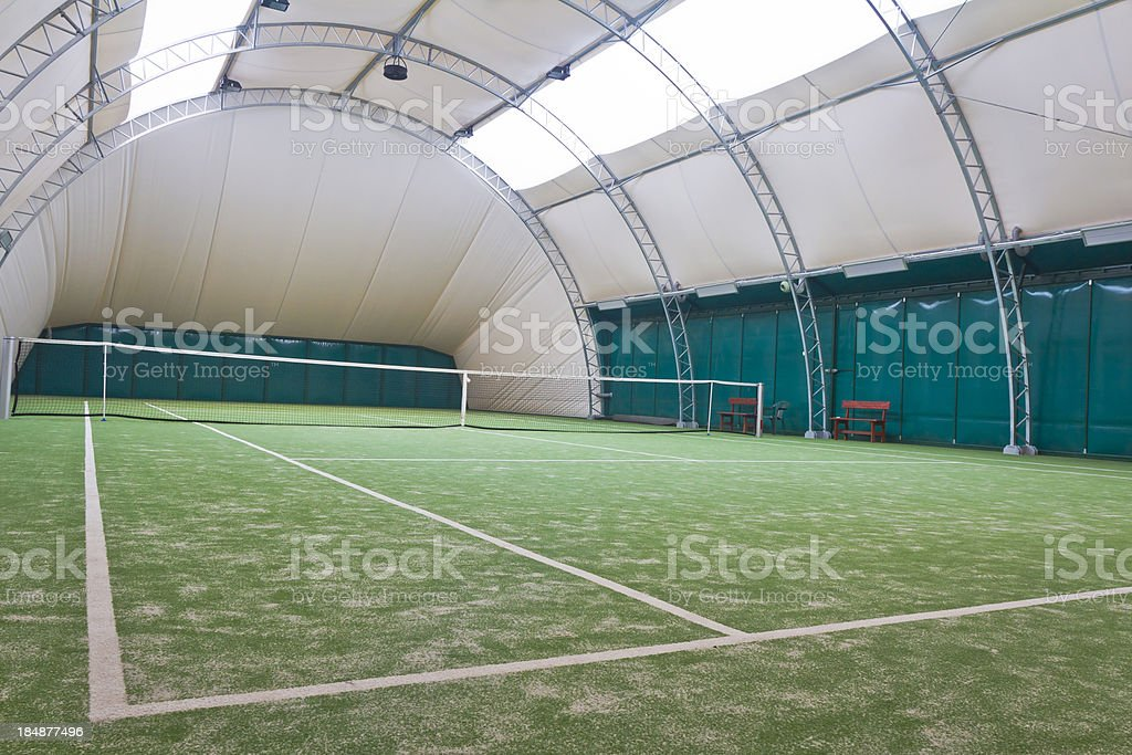 Tennis court interior royalty-free stock photo