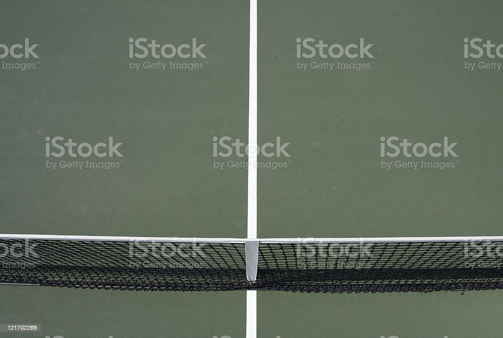Tennis Court Lines and Net royalty-free stock photo