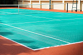 tennis court made with futsal material ground