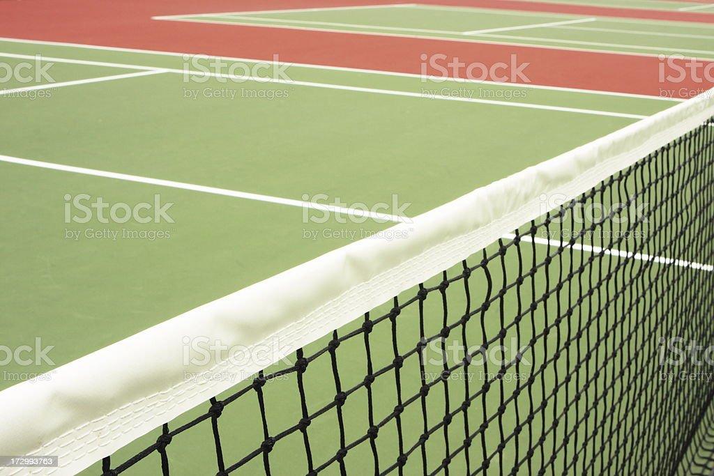 Tennis Court Net Athletic Sport Venue stock photo