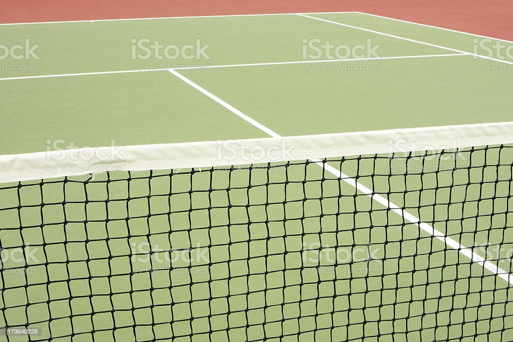 Tennis Court Net Athletic Sport Venue stock photo